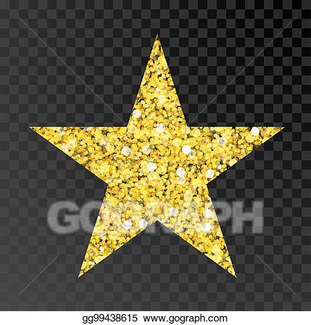 Stock illustration gold golden. Glitter clipart glitter star
