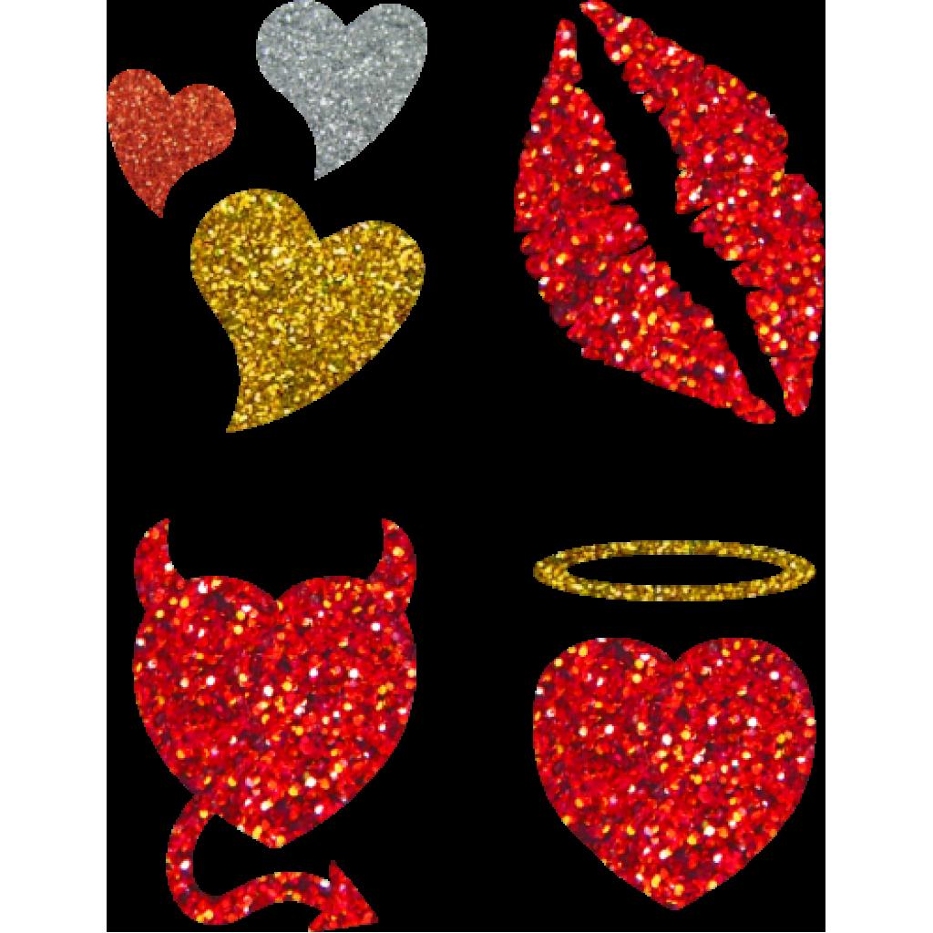 Quad hearts stencil sheet. Glitter clipart glitter tattoo
