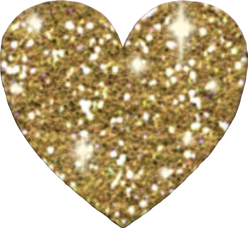 Sparkly heart sticker by. Glitter clipart gold abstract