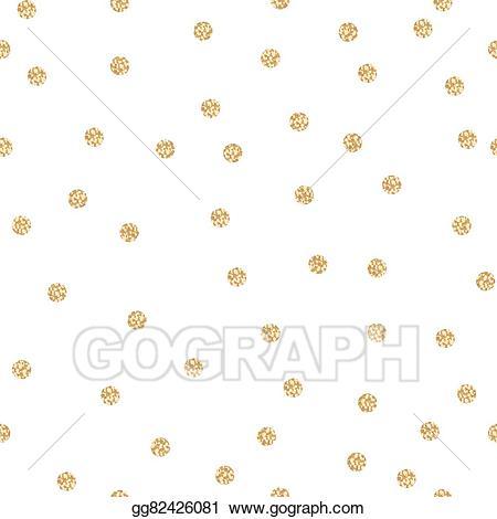 Eps vector polka dot. Glitter clipart gold shimmer
