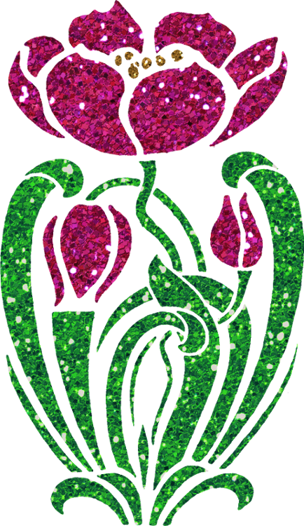 Glitter clipart green glitter. Flower by clipartcotttage on