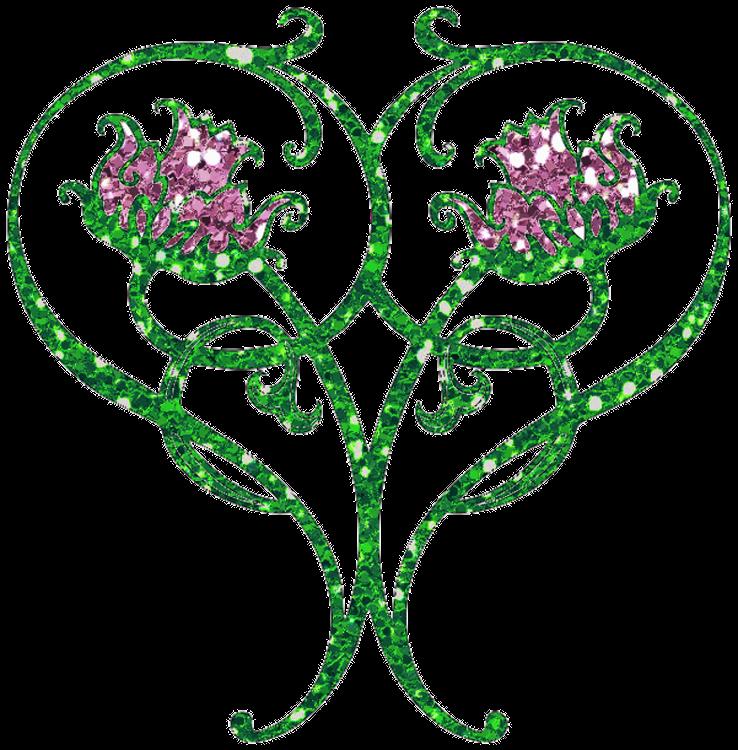 Flower by clipartcotttage on. Glitter clipart green glitter