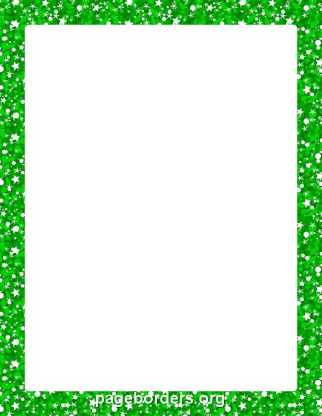 Glitter clipart green glitter. Border borders printable