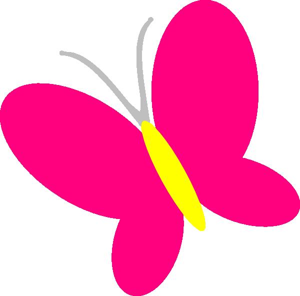 Glitter light pink butterfly
