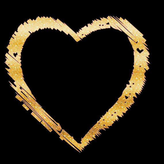 Gold heart png transparent. Glitter clipart love arrow