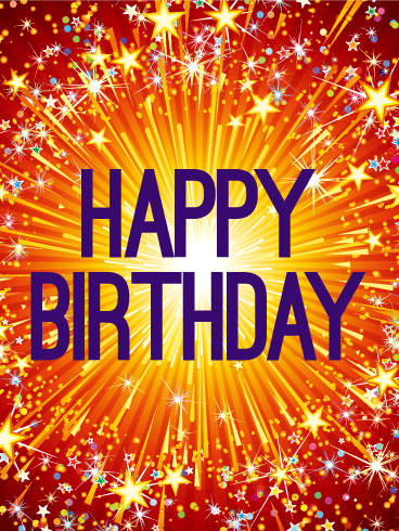 The happy message explodes. Glitter clipart modern birthday