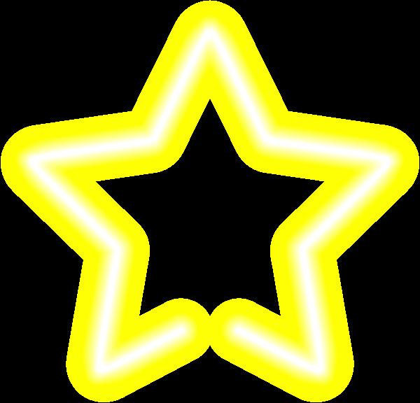 Sunglasses clipart neon. Star yellow clip art