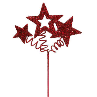 Vickerman red . Glitter clipart star spray