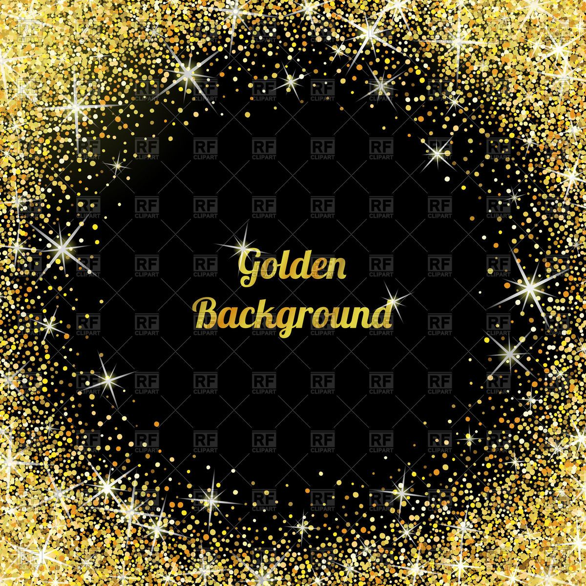 Gold vector image . Glitter clipart texture background