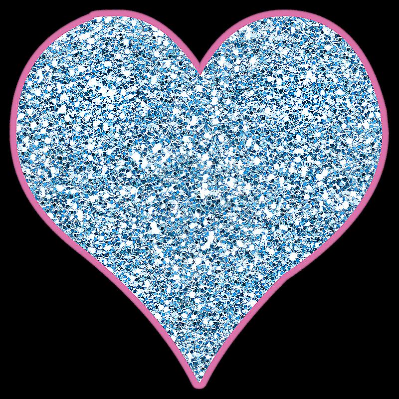 Lacarolita just beautiful heart. Glitter clipart whimsical