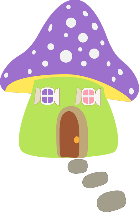 Champign maison e etc. Mushrooms clipart whimsical