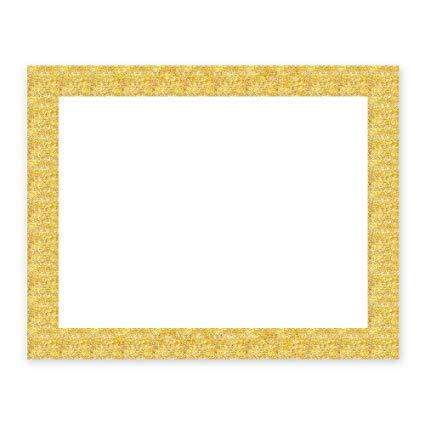 Glitter frame. Artskills poster board gold