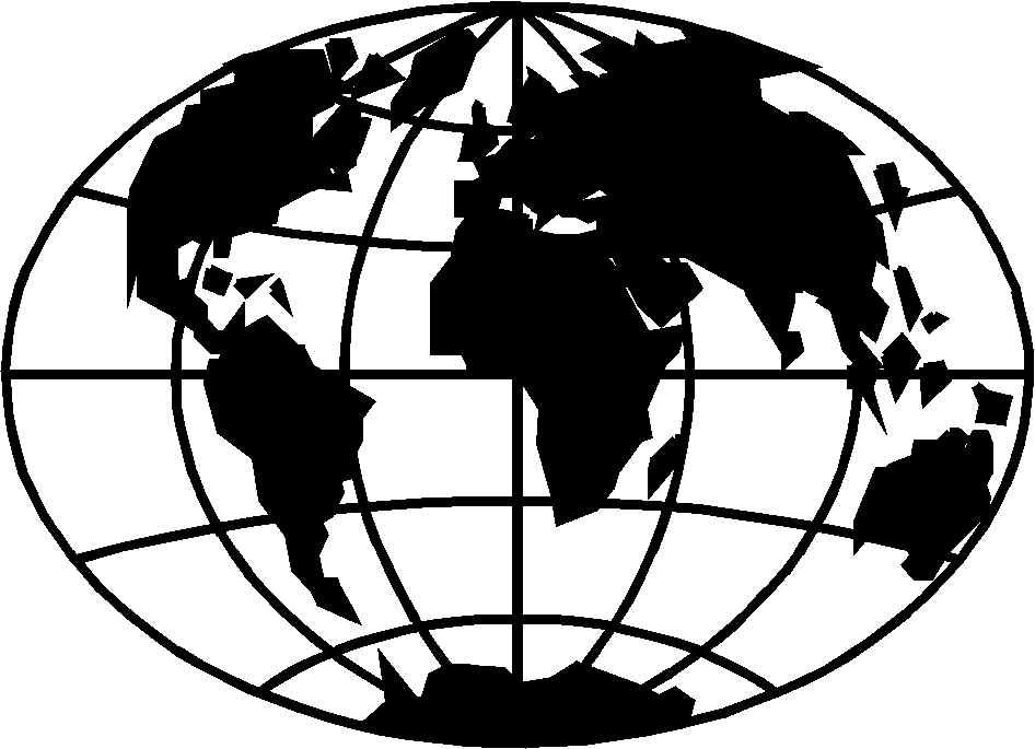 Globe clipart. Black and white free