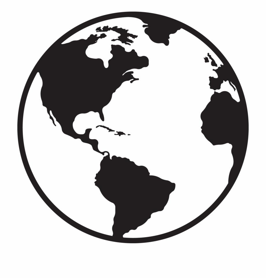 Globe clipart black and white. Best