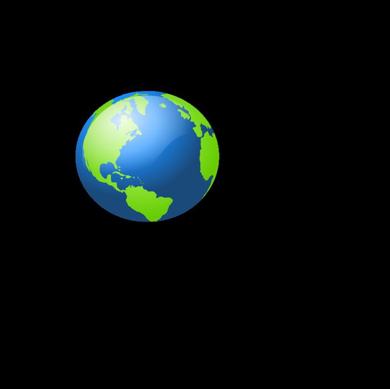 Free blue earth business. Globe clipart broken