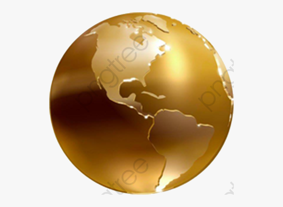 Globe clipart brown. Golden earth material free