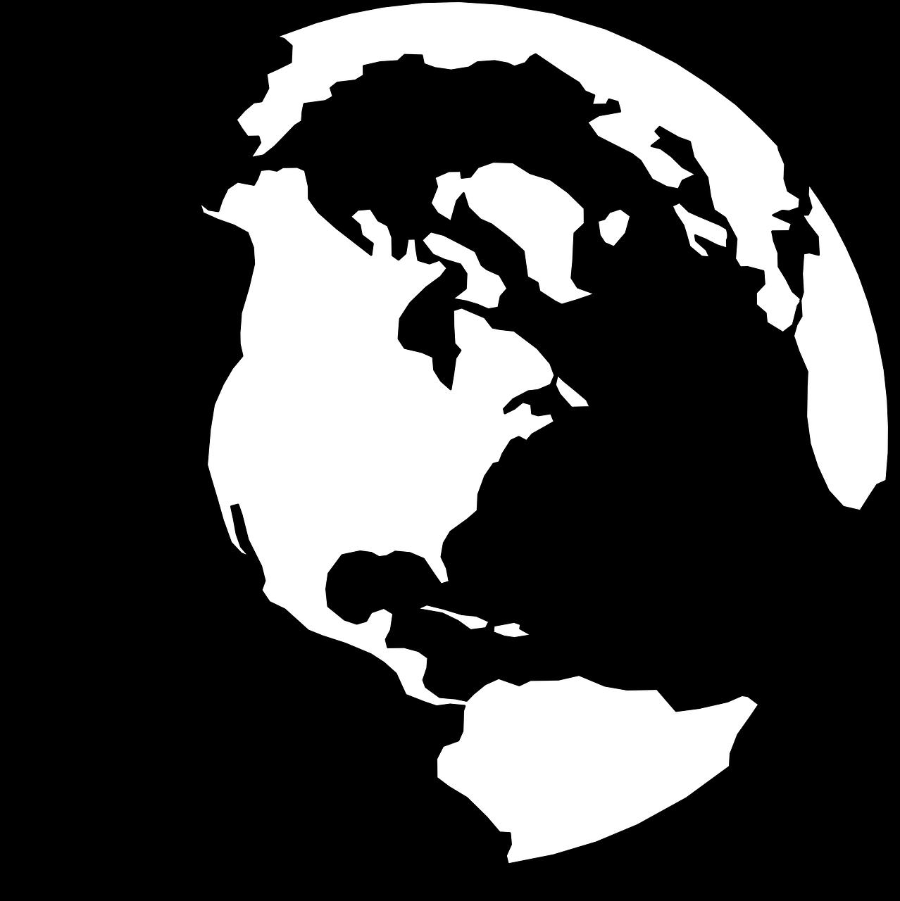 Globe clipart cliaprt. Earth transparent silhouette