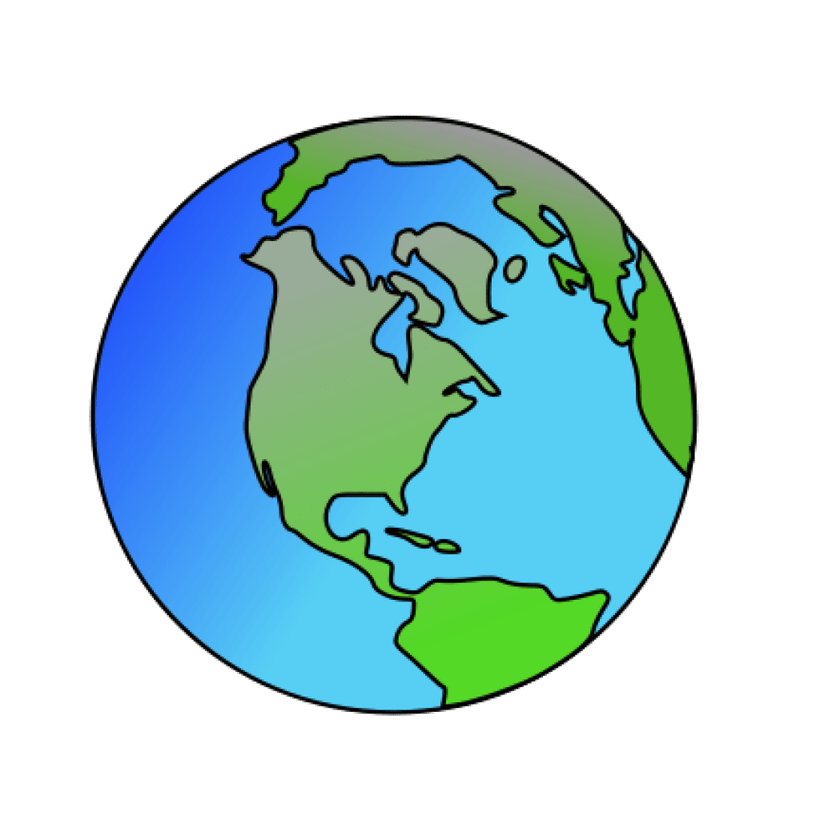 Picture of planet earth. History clipart globes