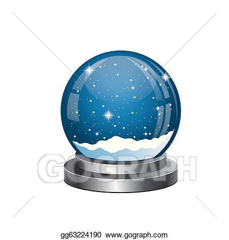 Vector stock christmas snow. Globe clipart empty
