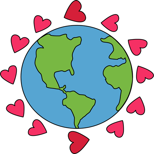 Earth free download best. Globe clipart heart