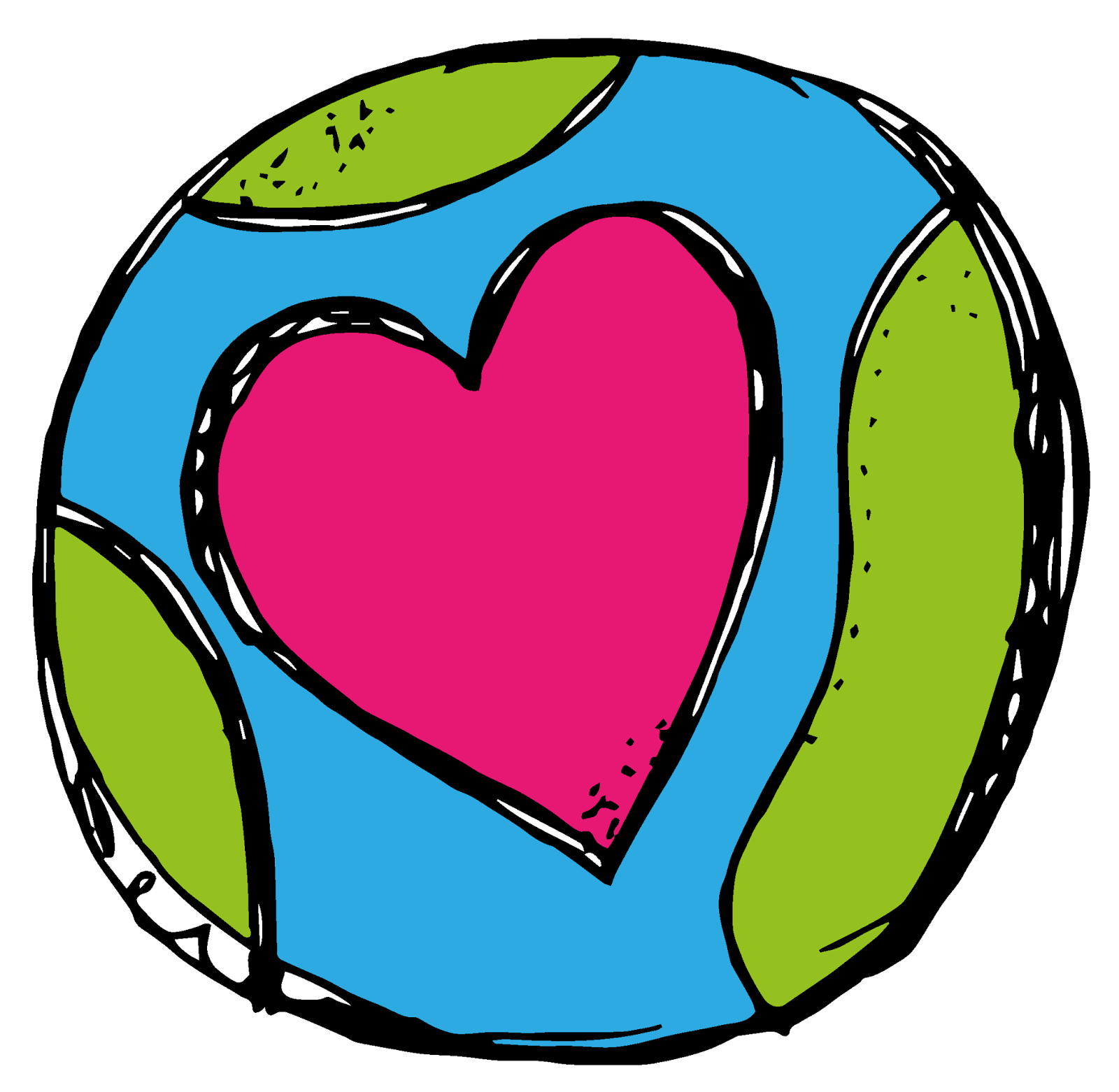 Globe clipart heart.  collection of earth