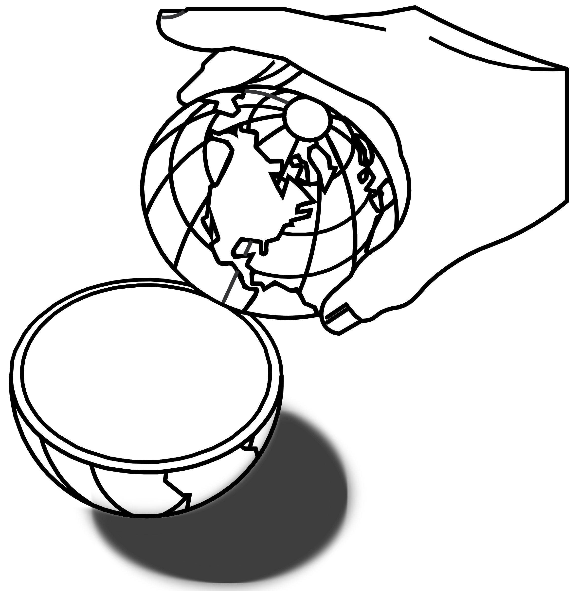 Divided big image png. Globe clipart lineart