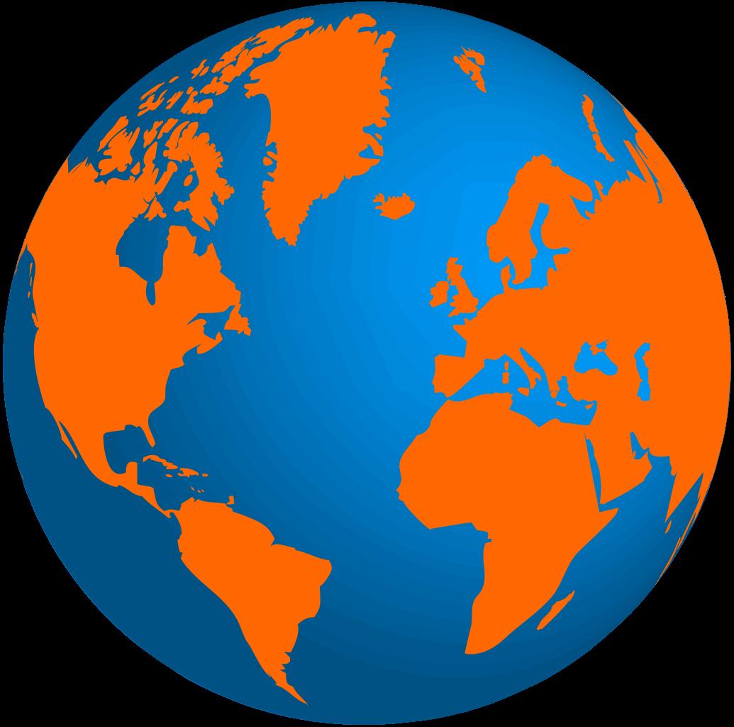Logos fileglobe terrestre te. Globe clipart orange