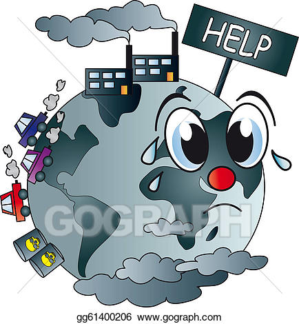 Drawing world gg gograph. Globe clipart polluted