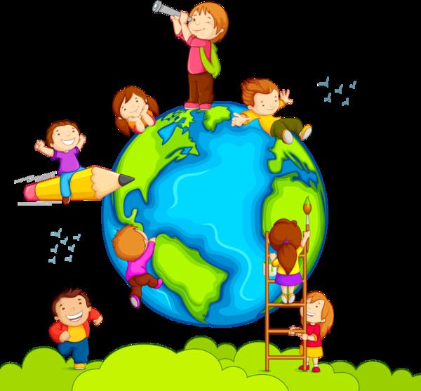 Cartoon child product . Globe clipart preschool
