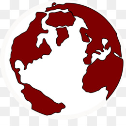Earth png and transparent. Globe clipart red