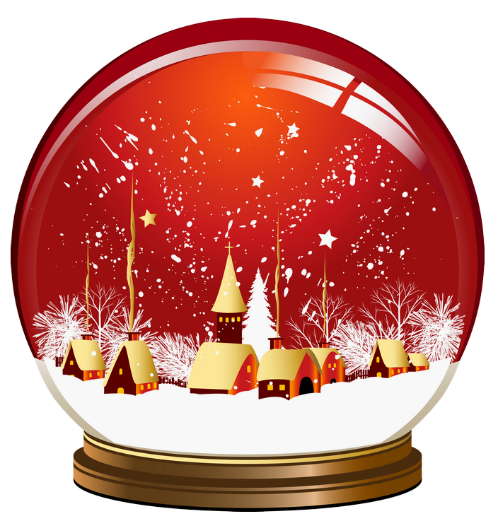 Christmas snowglobe png lady. Globe clipart red