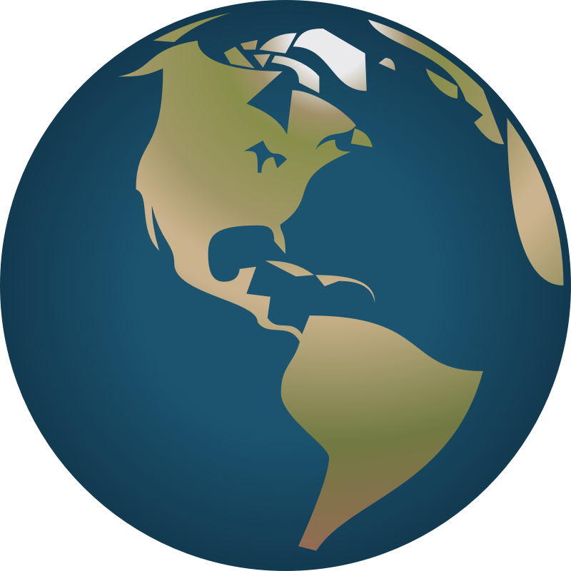 A view from the. Globe clipart simple