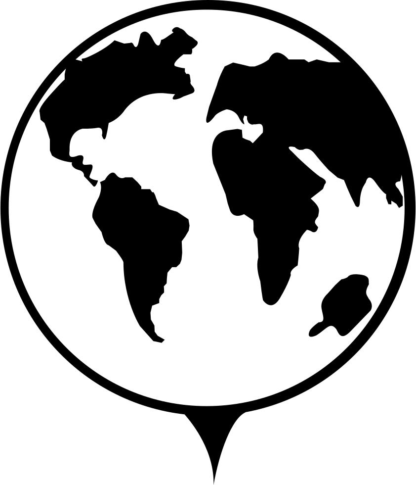 Globe clipart stencil, Globe stencil Transparent FREE for ...