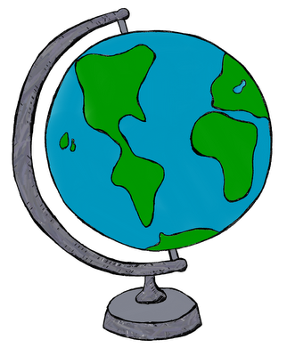 Globe clipart teacher. Clip art by carrie