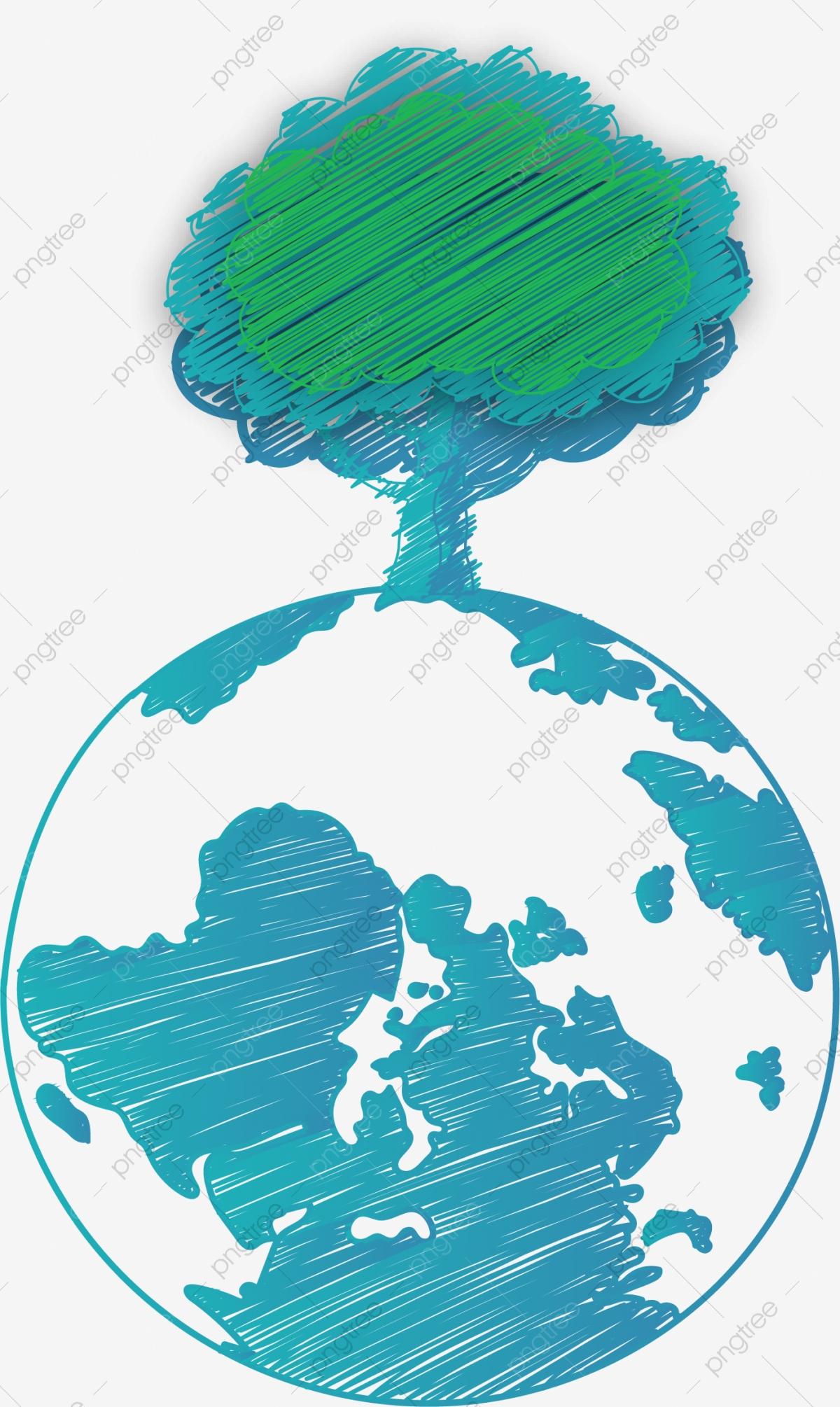 Globe clipart tree. Earth creative green png