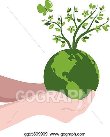 Vector art drawing gg. Globe clipart tree