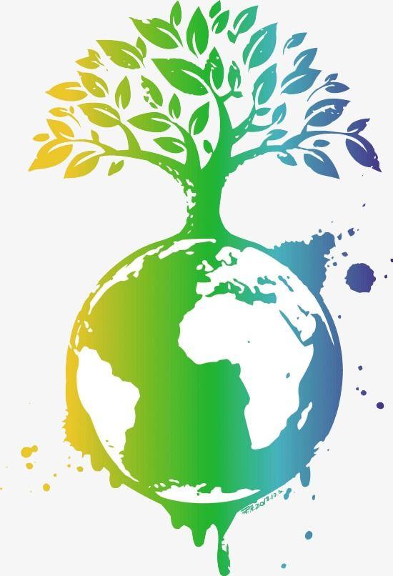 Earth creative green png. Globe clipart tree