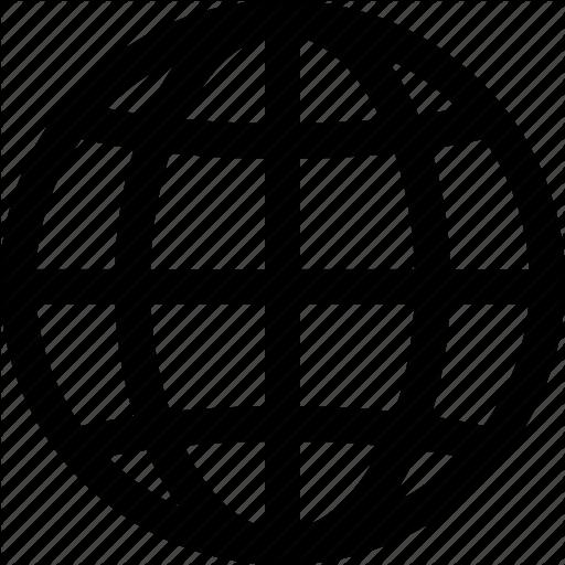 Social productivity line art. Globe icon png