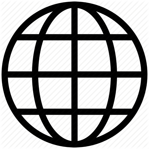 Globe icon png. Universal mobile line icons