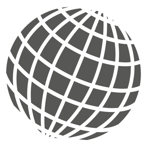 Globe vector png. Grid on icon transparent