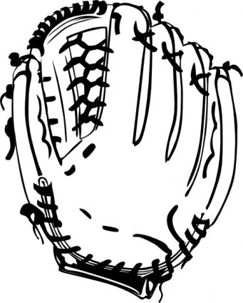 Glove clipart. Free baseball and vector