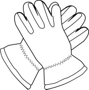 Gloves outline clip art. Glove clipart