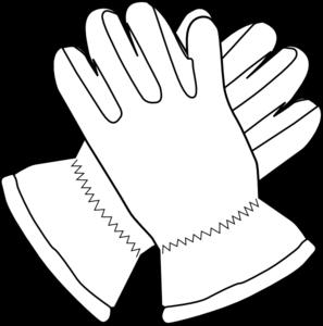 Glove clipart. Gloves outline clip art