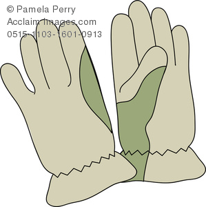 Glove clipart. Clip art illustration of