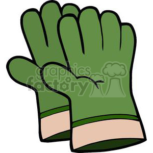 Green gardening royalty free. Gloves clipart
