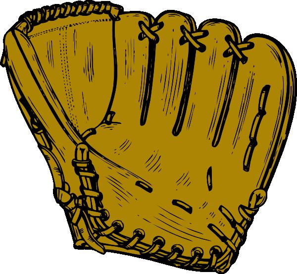 Clip art at clker. Glove clipart baseball bat