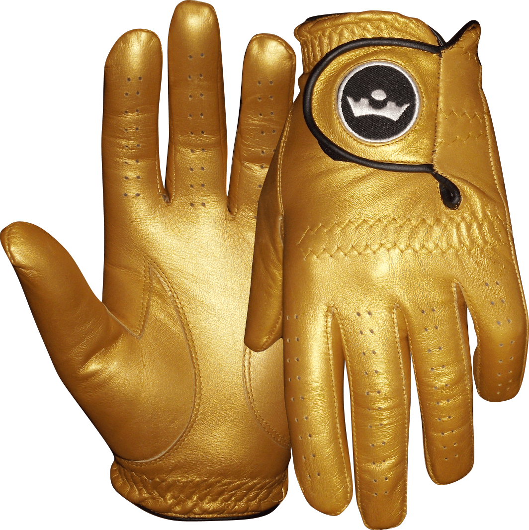 King of gold. Gloves clipart golf glove