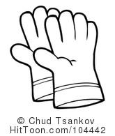 Glove clipart black and white. Gloves station