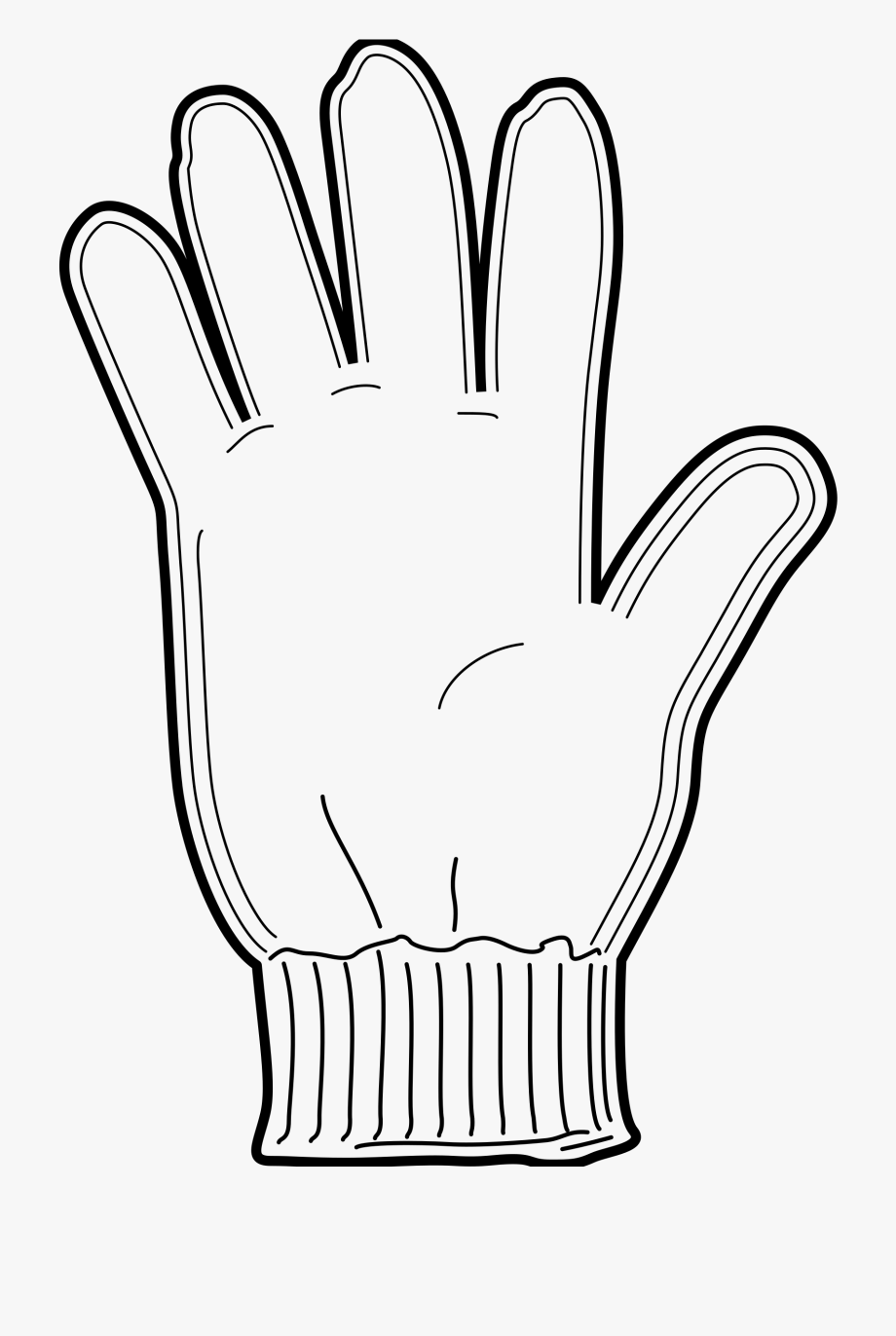 Winter clothes gloves cartoon. Glove clipart black and white