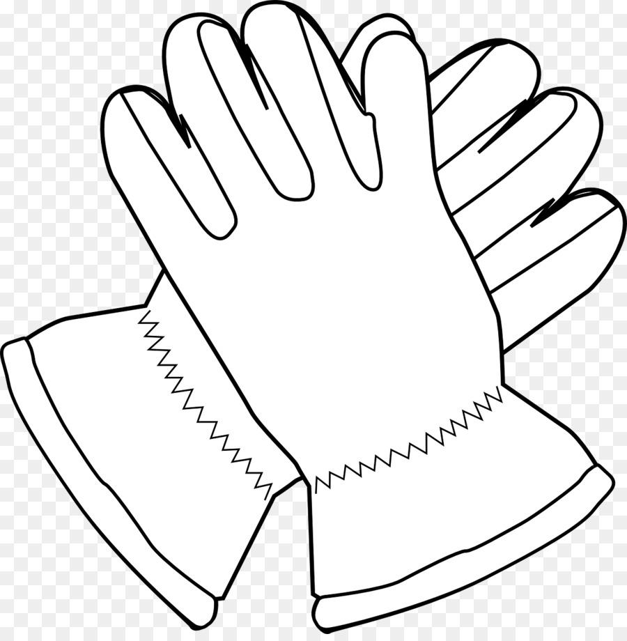Baseball hand transparent . Glove clipart black and white